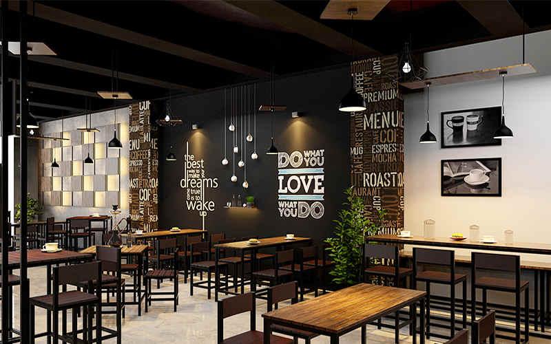 thiết kế quán cà phê đơn giản