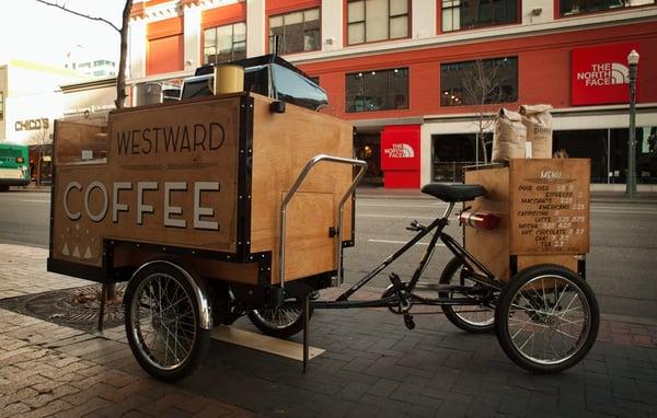 trang trí xe cafe take away theo phong cách riêng