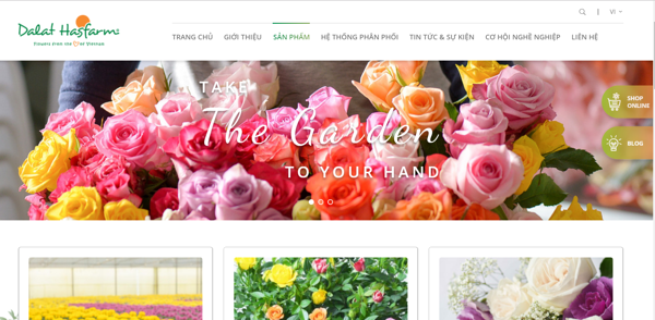 website bán hàng của Dalat Hasfarms