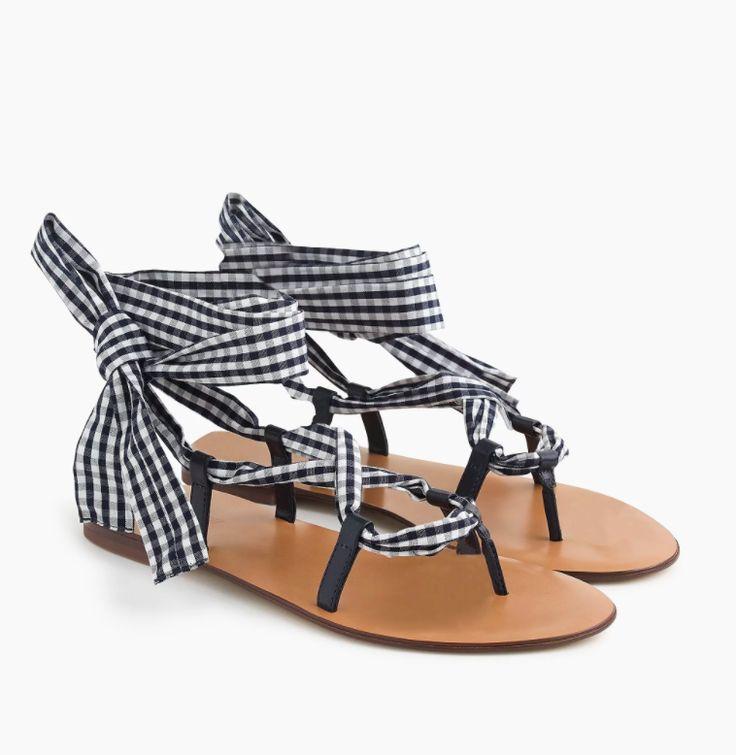 giày họa tiết caro cho hè 2018