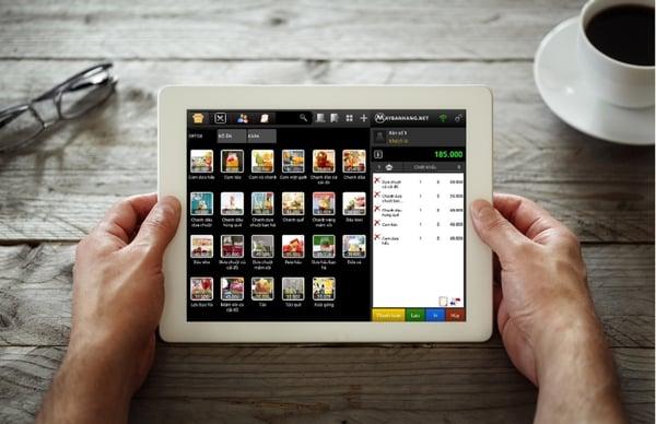 Order món trong menu điện tử cực dễ dàng bằng maybanhang.net
