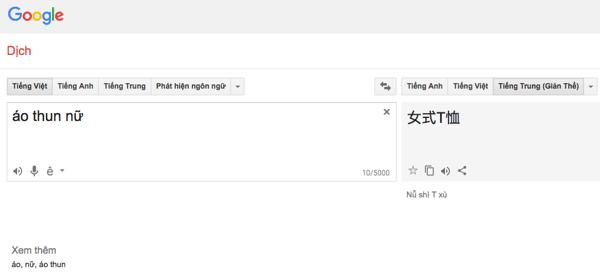 google translate khi mua hang tren taobao