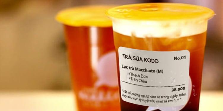 in tem trà sữa giúp quảng bá thương hiệu