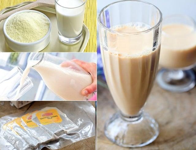 Pha trà và sữa