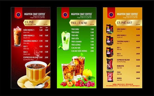 đa dạng menu cho các quán cafe bóng đá
