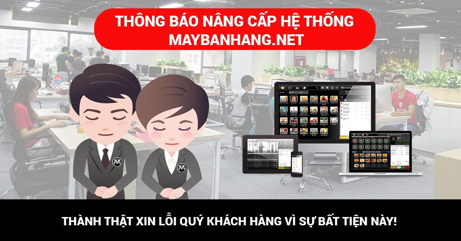 nâng cấp hệ thống MAYBANHANG.NET